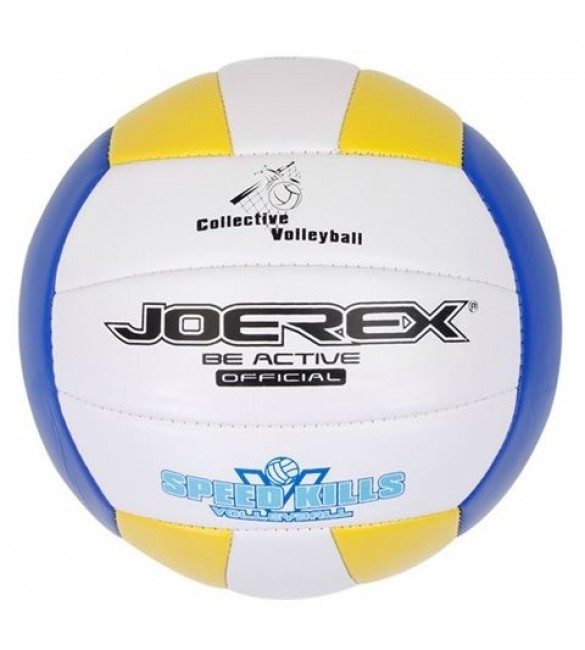 Joerex Volleyball-White/Blue/Yellow