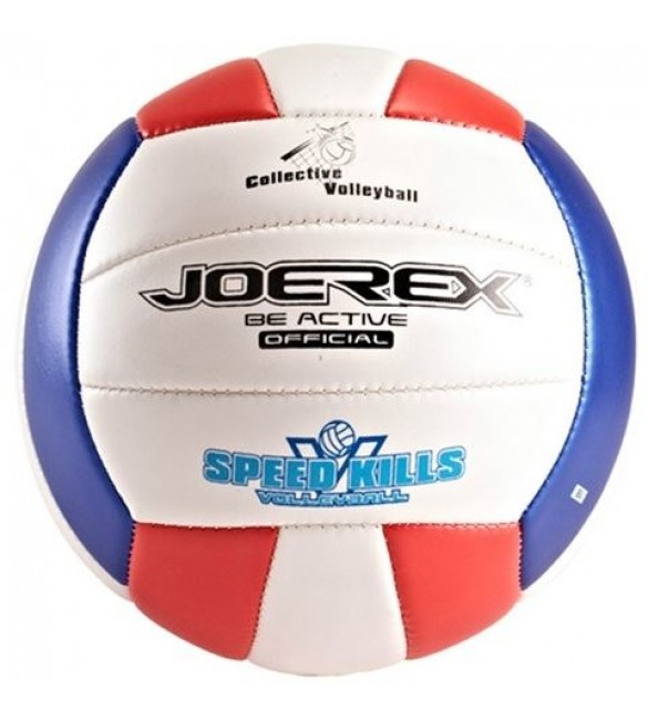 Joerex VolleyballWhite/Blue/Red