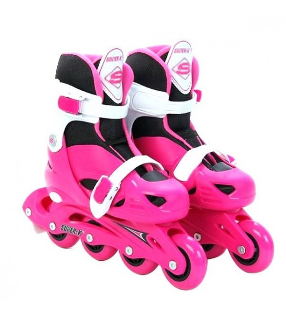 Super-K Adjustable Inline Skate -pink