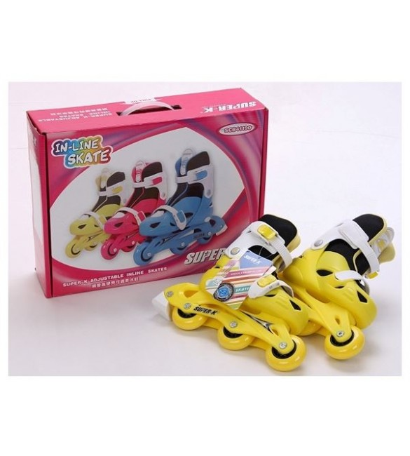 Super-K Adjustable Inline Skate -yellow