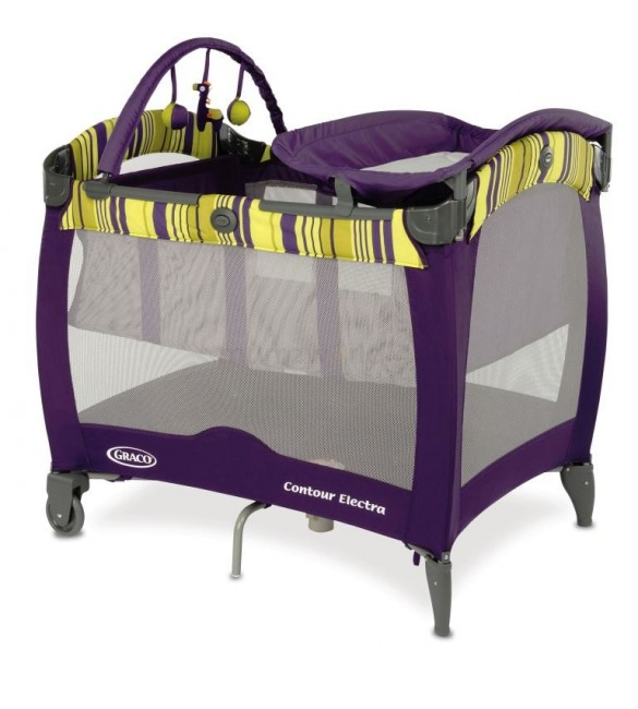 Graco Contour Electra Travel Cot – Blackberry