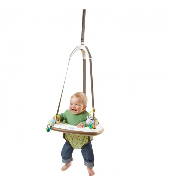 Baby swings bouncers walkers graco for Door bouncer age