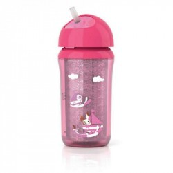 Avent Insulated Cup With Straw 260 Ml - Pink