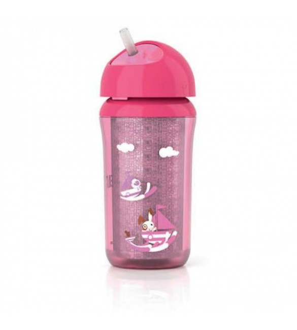 Avent Insulated Cup With Straw 340 Ml - Pink