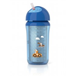 Avent Insulated Cup With Straw 260 Ml - Blue