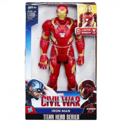 CIVIL WAR IRON MAN ELECTRONIC TITAN HERO