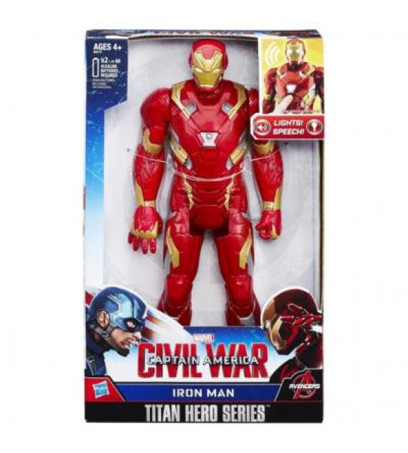 CIVIL WAR IRON MAN ELECTRONIC TITAN HERO