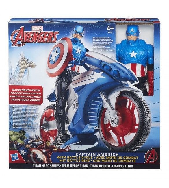 Avengers Captain America Titan Hero And Vehicle Ast