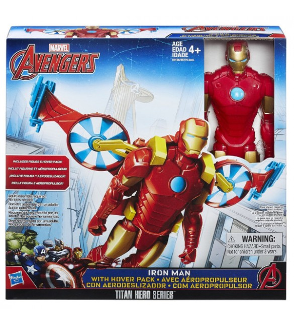 Avengers Iron Man Titan Hero And Vehicle Ast