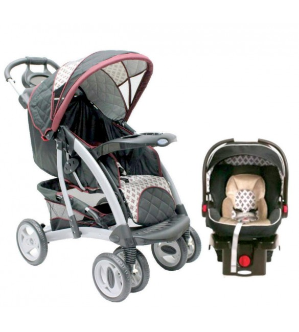 Graco Quattro Tour Deluxe Travel System-Antiquity