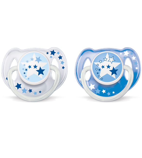 Avent - Night Time Pacifiers - Blue