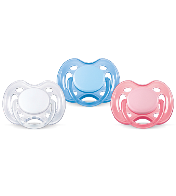 Avent Pacifiers - Free Flow  - Colors 0-6 Months