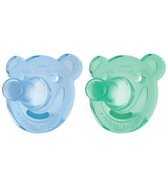 Philips Avent  Soothie Shape, 3m+ 2pk, blue/green