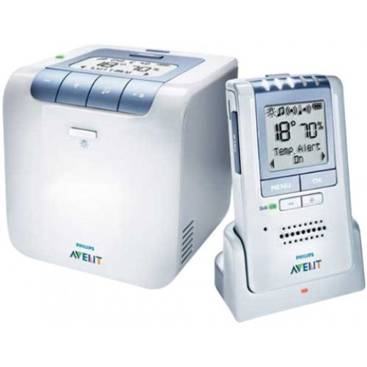 Avent Philips Analogue Baby Monitor 2 Parent Units With Extra Baby Unit