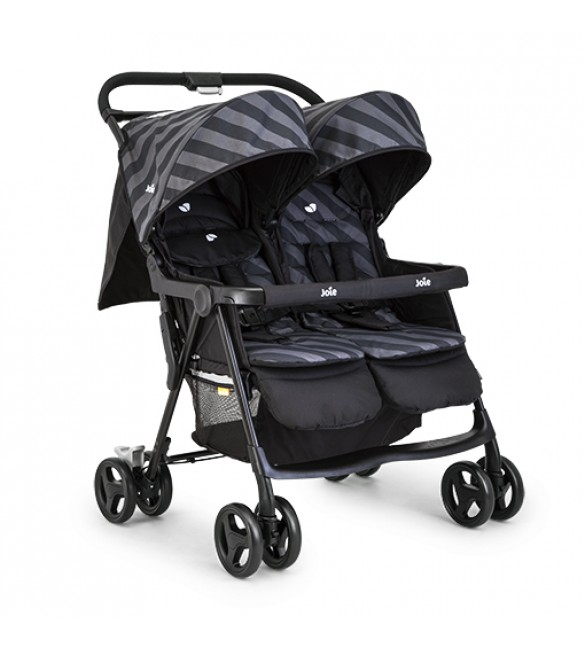 Joie Aire Twin Stroller-Liquorice
