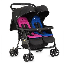 Joie Aire Twin Stroller-Pink Blue