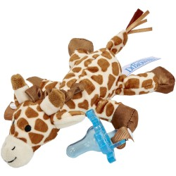 Dr. Brown's Giraffe Lovey with Blue One-Piece Pacifier