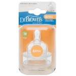 """Dr. Brown's Level 3 Silicone Wide-Neck """"Options"""" Nipple - 2 Pack"""