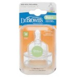 "Dr. Brown's Level 4 Y-Cut Silicone Wide-Neck ""Options"" Nipple - 2 Pack"