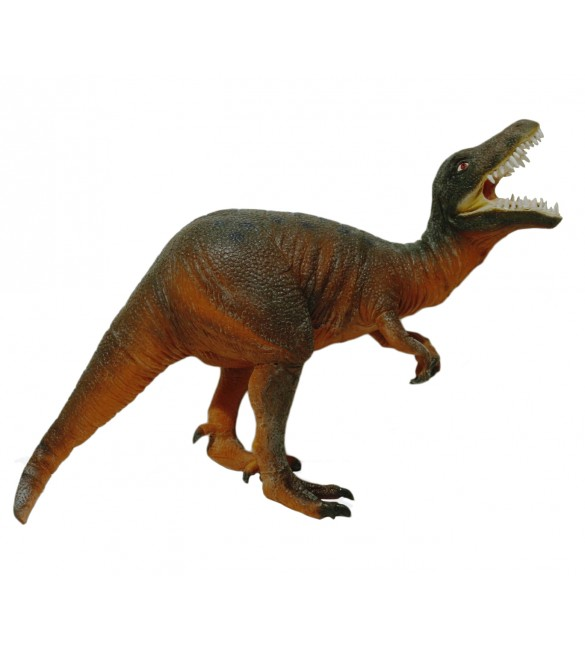 Dinosaur Rubber Toy Brown