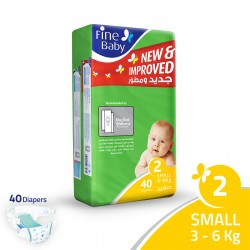 Fine Baby Super Dry - Smart Lock, Small 3-6 Kgs