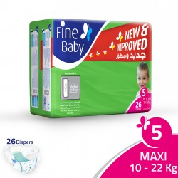 Fine Baby Super Dry - Smart Lock, Size 5 Maxi, 10-22 Kg, 26 PCS