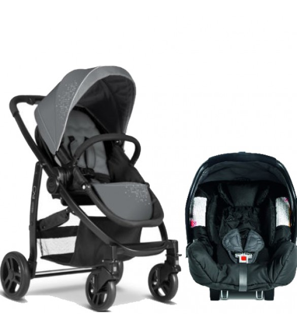 Graco Evo Travel System-Charcoal
