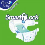 Fine Baby Super Dry - Smart Lock - Medium 4-9Kgs- Mega Pack