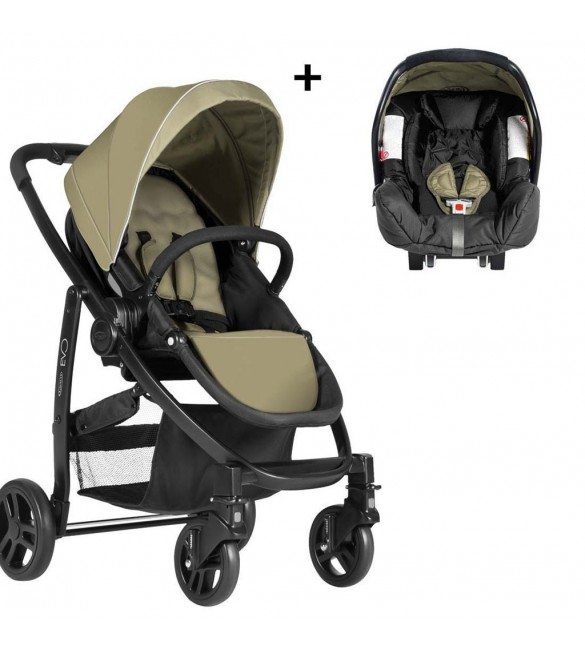 Graco Evo Travel System-sand