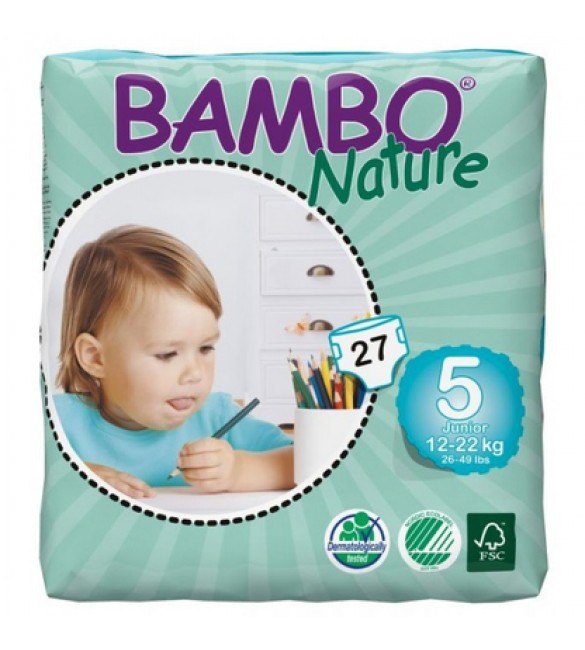Bambo Nature Eco Disposable Nappies Junior 12-22 Kgs - Size 5
