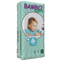 Bambo Nature Baby Diapers Classic, Size 5 (12-22Kg), 54 Count