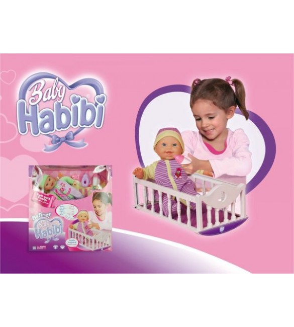 Baby Habibi My First Baby with Cradle