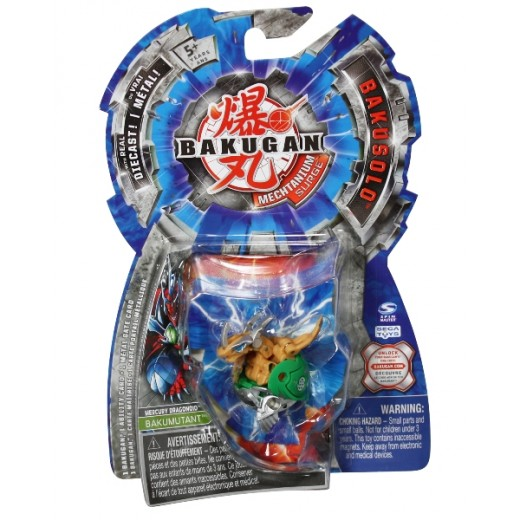 BAKUGAN 4 -BOOSTER PACK Mercury Dragonoid