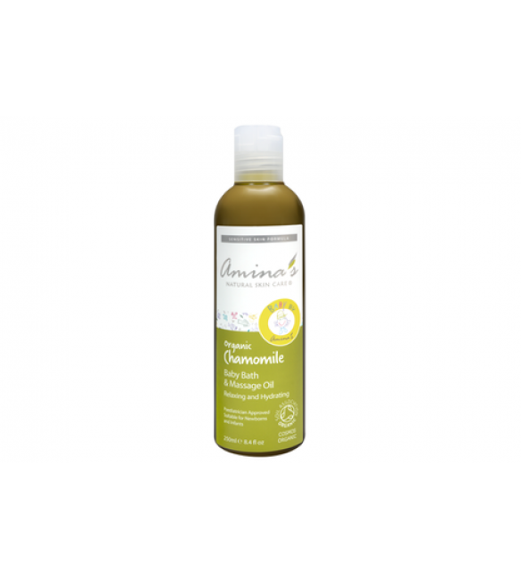 Amina's Skin Care Organic Chamomile Baby Bath & Massage Oil 250ml