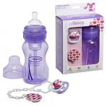 Dr. Brown's Gift Set (Wide Neck Bottle /Pacifier /Clip) - Purple