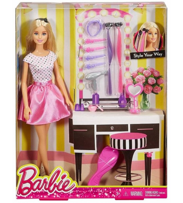 BARBIE FASHION AND BEAUTY - Hair Accessories Set