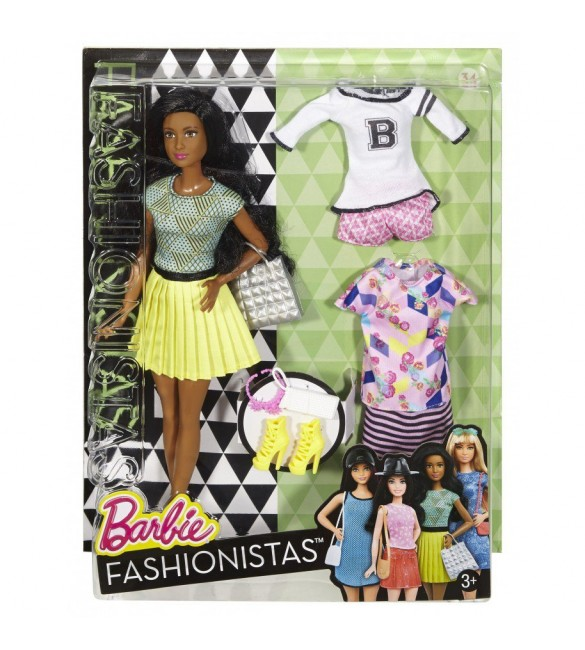 BARBIE FASHION AND BEAUTY - Fashionistas doll with 2 extra dress - 2