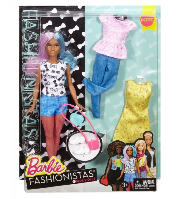 BARBIE FASHION AND BEAUTY - Fashionistas doll with 2 extra dress - 3