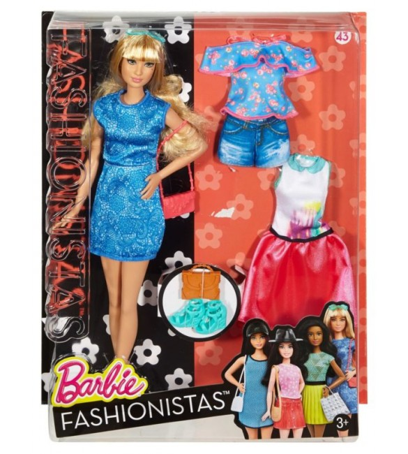 BARBIE FASHION AND BEAUTY - Fashionistas doll with 2 extra dress - 4
