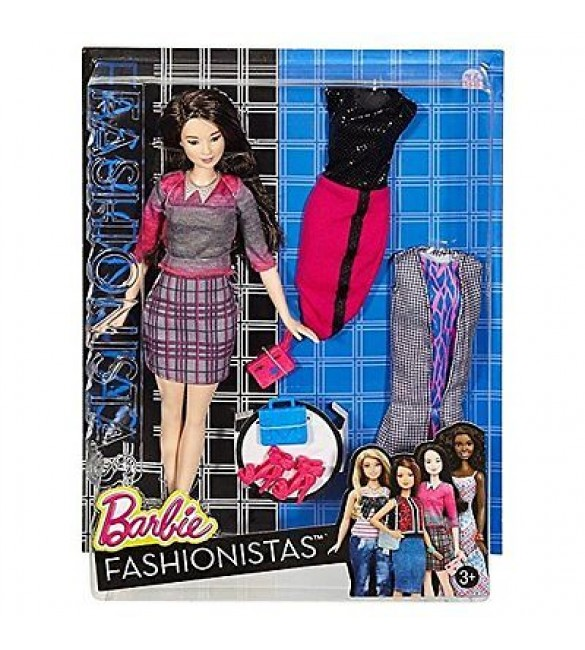 BARBIE FASHION AND BEAUTY - Fashionistas doll with 2 extra dress - 5