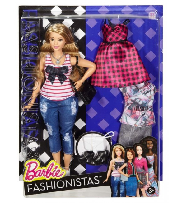 BARBIE FASHION AND BEAUTY - Fashionistas doll with 2 extra dress - 6