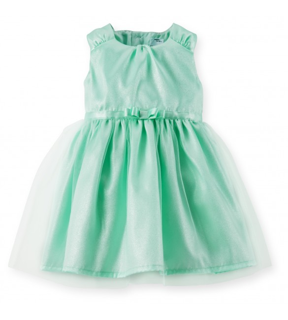 Carter's Dress Set- Mint Satin Tulle-9M