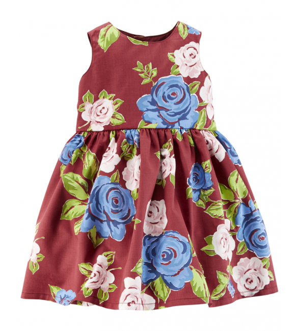 Carter's Floral Sateen Dress- 3M