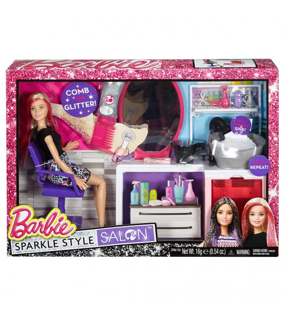 Barbie Sparkle Style Salon Doll Playset - Blonde
