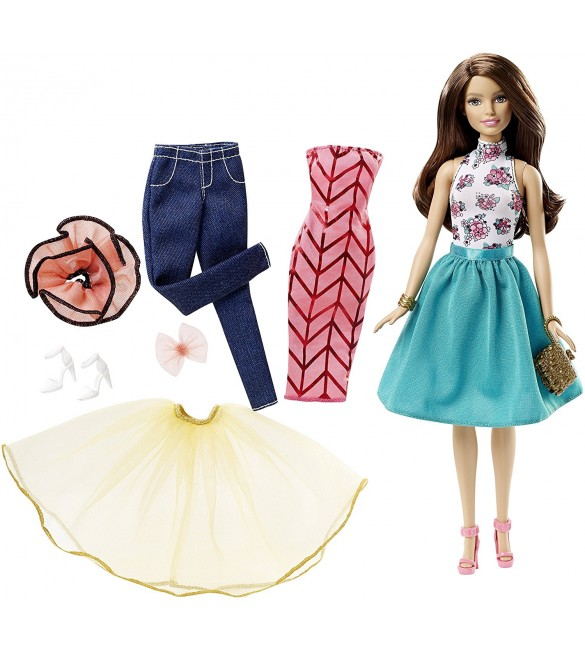 Barbie Fashion Mix 'N Match Doll, Brunette