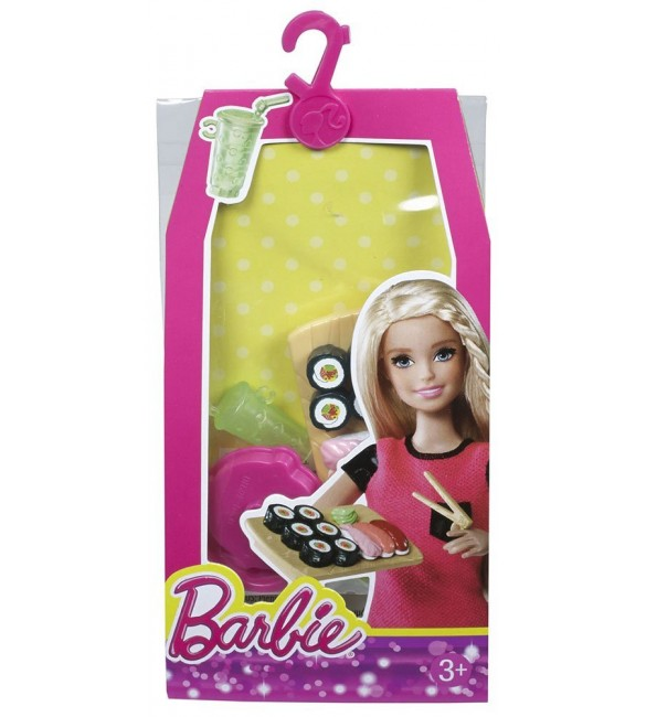 Barbie Doll Sushi Barbie Mini House Accessory Pack - Sushi Set