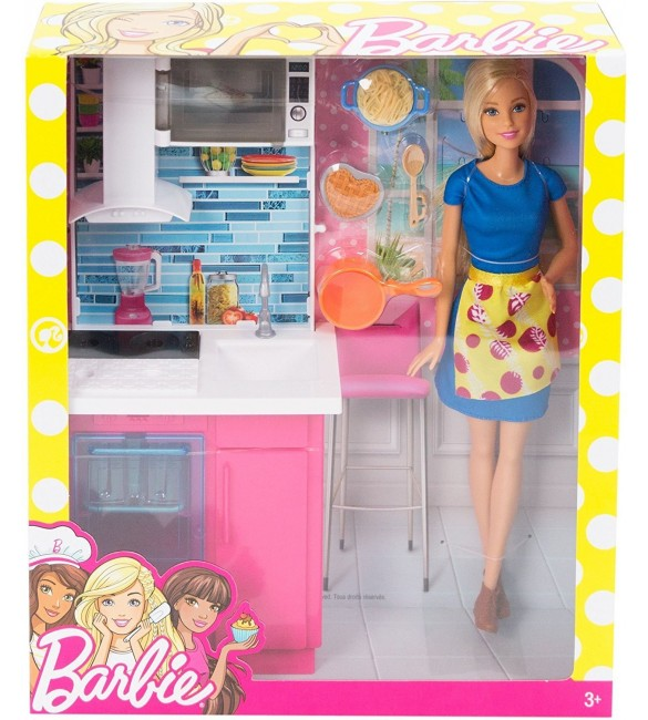 Barbie Kitchen and Doll