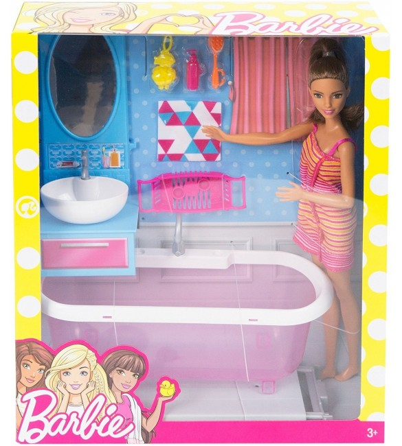 Barbie Doll & Bathroom Playset