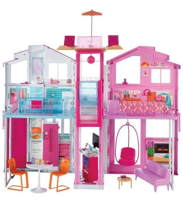 Barbie Three-Storey Townhouse Playset