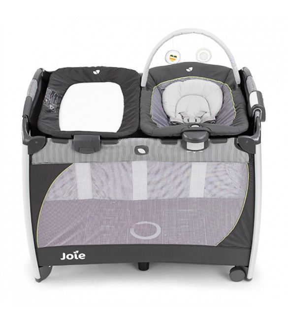 Joie Excursion Playard Change & Bounce-classic stripe